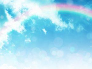 青い空と虹