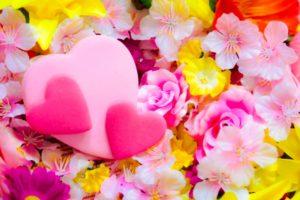 ハートとお花